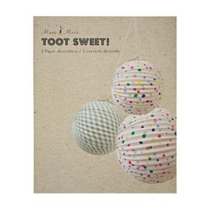 Charms & Stripes Paper Globe Decorations