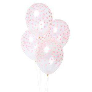 Coral Star Balloons