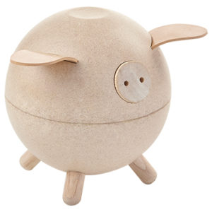 Plan Toys - Piggy Bank - Pink