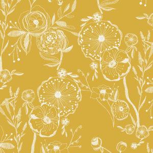Art Gallery - Millie Fleur - Line Drawings Yellowed Canvas & Denim