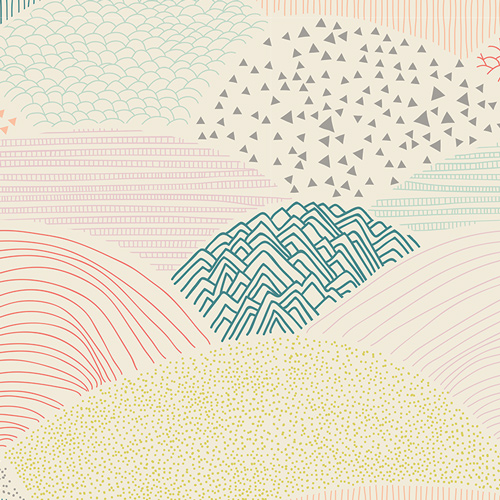 Art Gallery - Hello Bear - Summit Dawn Baumwolle