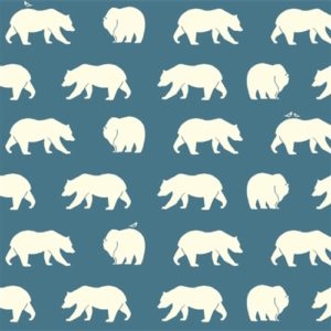 Birch Fabrics - Bear Camp - Bear Hike Blue