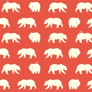 Birch Fabrics - Bear Camp - Bear Hike Coral