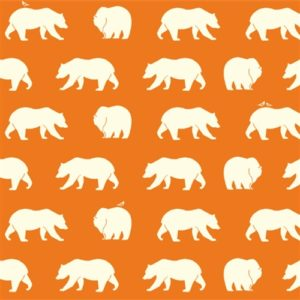 Birch Fabrics - Bear Camp - Bear Hike Orange