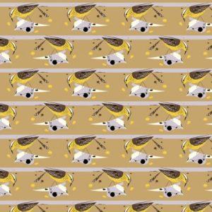 Birch Fabrics - Charley Harper - Cactus Wren