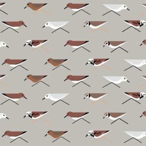 Birch Fabrics - Charley Harper Maritime - Sanderlings
