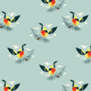 Birch Fabrics - Charley Harper - Western Tanager