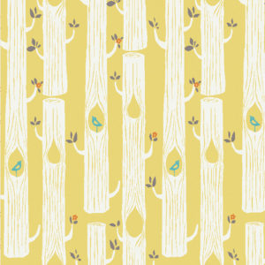 Birch Fabrics - Circa 52 - Tree Stripes Sun