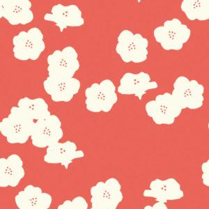 Birch Fabrics - Elk Groove - Poppies Coral