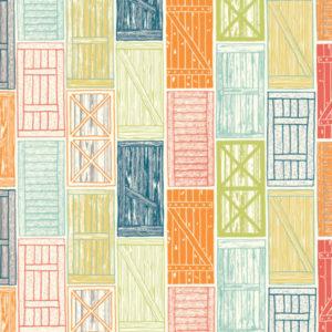 Birch Fabrics - Farm Fresh - Barn Doors Multi