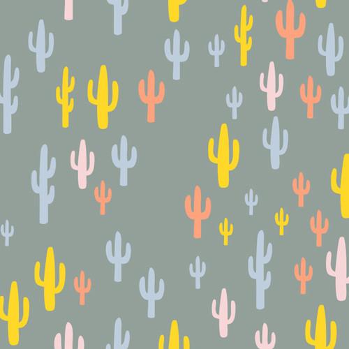 Art Gallery - Morning Walk - Cacti Field Baumwolle