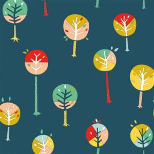 Birch Fabrics - Happy Town - Happy Trees
