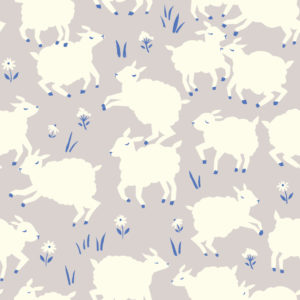 Birch Fabrics - Homestead - Little Lamb Fog
