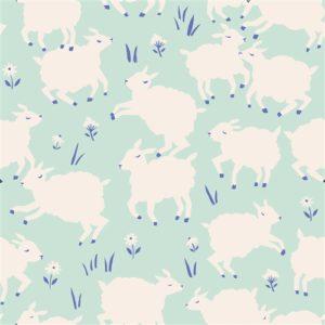 Birch Fabrics - Homestead - Little Lamb Mint