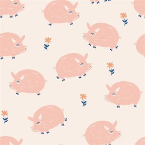 Birch Fabrics - Homestead - Oink