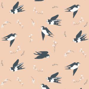 Birch Fabrics - Little - Happy Swallow
