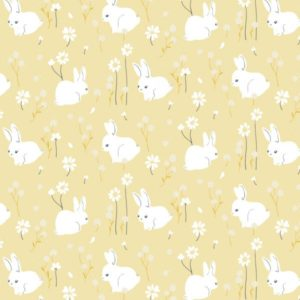 Birch Fabrics - Little - White Bunny