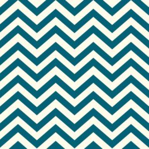 Birch Fabrics - Mods Basic - Skinny Chev Teal