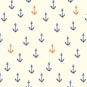 Birch Fabrics - Saltwater - DG anchors aweigh