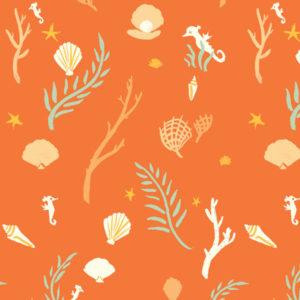 Birch Fabrics - Saltwater - flotsam&jetsam coral