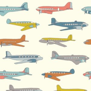 Birch Fabrics - Transpacific - Planes Multi