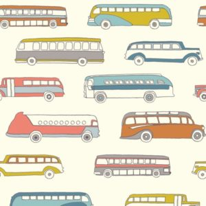 Birch Fabrics - Transpacific - Retro Bus