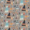 Birch Fabrics - Wildland - Teepees Shroom