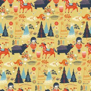 Birch Fabrics - Wildland - Village Feast Sun