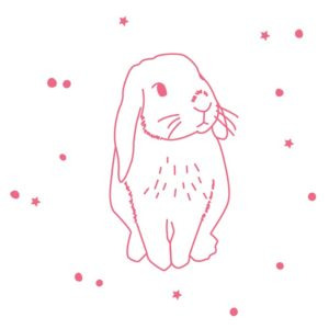 MIMI'lou Sticker - Lapin Rose