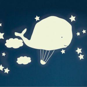 MIMI'lou Sticker - Wal und Heißluftballon