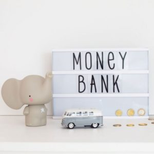alittlelovelycompany Money Box - Grey Elephant