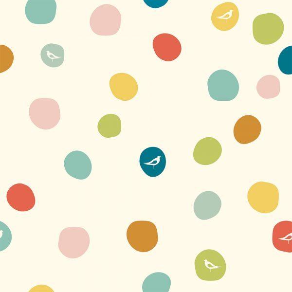 Bio-Baumwolle Birch Fabrics Birch Basics - Dot in multi