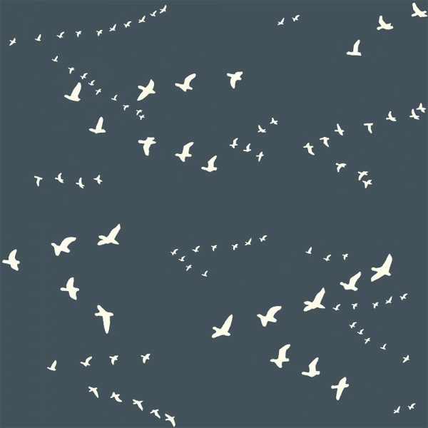 Bio-Baumwolle Birch Fabrics Birch Basics - Flight in dusk