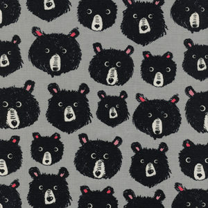 Cotton&Steel Black&White - Teddy &The Bears Grey