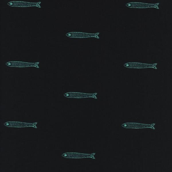 Cotton&Steel From Porto With Love - Fishies Teal