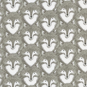 Cotton&Steel Magic Forest - Foxes Grey