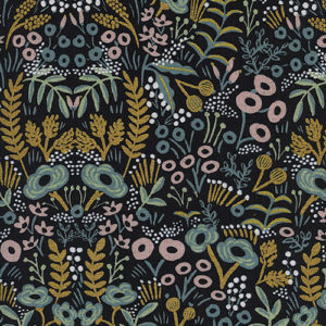 Cotton&Steel Menagerie - Tapestry Midnight Metallic Canvas