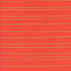 Cotton&Steel Noel - Gold Stripe Red