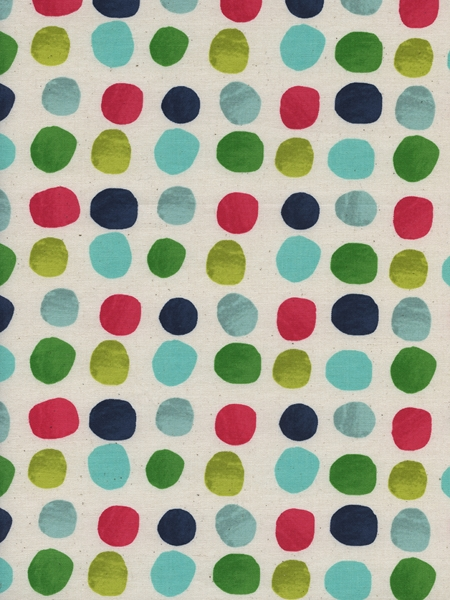 Cotton&Steel Noel - Painted Dots in Blue