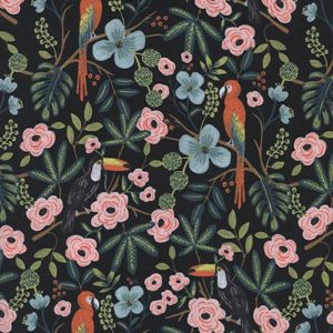 Cotton&Steel Menagerie Paradise Garden Midnight