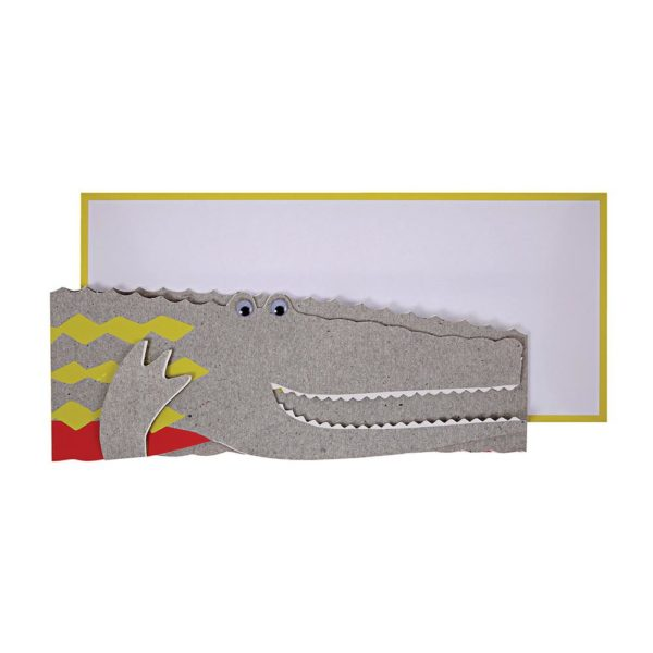 Crocodile Concertina Card