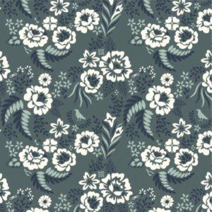 Birch Fabrics - Merryweather - Floral Slate