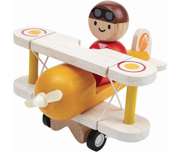 Plan Toys - Flugzeug mit Pilot