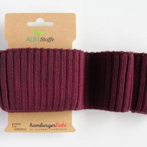 Albstoffe - Cuff Me Cozy bordeaux rot