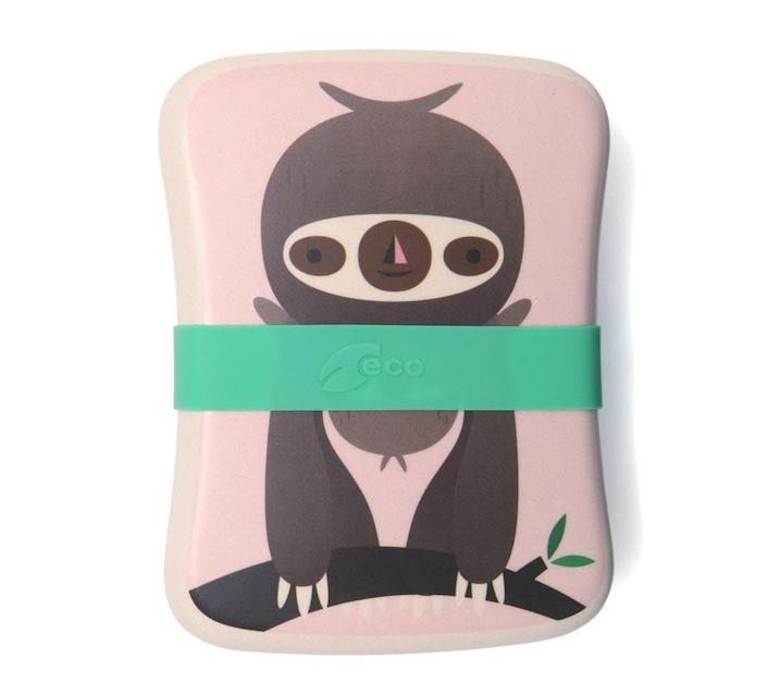 Petit Monkey Brotdose Aus Bambus Faultier Rosa Lottiklein
