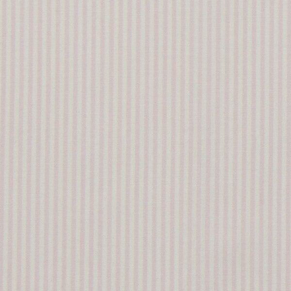 c.pauli - Popeline fein - feine Webstreifen blushing/ bride weiß