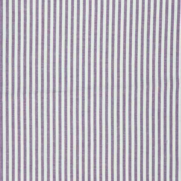 c.pauli - Popeline fein - feine Webstreifen damson / weiß