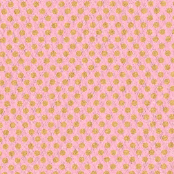 c.pauli - Popeline fein - mittlere Punkte candy pink / golden apricot