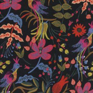 Cotton&Steel - Les Fleurs - Folk Birds Black (C)
