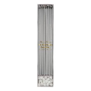 Silver Long Candles